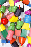 Colorful wooden beads toy Stock Photography