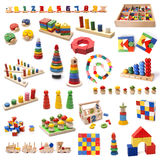 Colorful wooden beads toys Stock Images