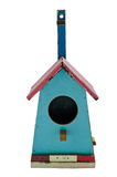 Colorful wooden bird house Royalty Free Stock Photo