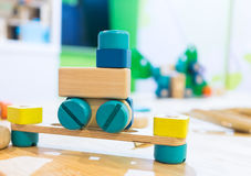 Colorful Wooden Block toy for development. Royalty Free Stock Photography
