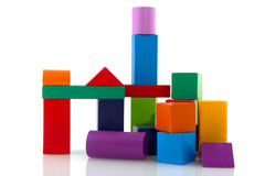 Colorful wooden blocks Stock Images