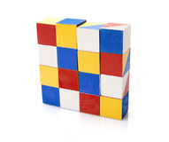 Colorful wooden blocks. On white background Stock Photo