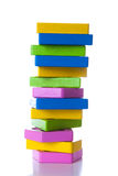 Colorful wooden blocks. On white background Stock Image