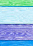 Colorful wooden board Stock Photography