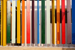 Colorful wooden boards, colourful wood planks Royalty Free Stock Photo