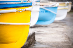 Colorful wooden boats. Royalty Free Stock Image