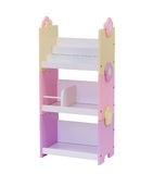 Colorful wooden book shelf Royalty Free Stock Photo