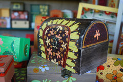 Colorful wooden box Stock Image