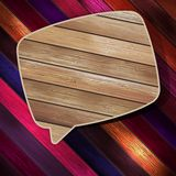 Colorful wooden bubble speech. EPS 10 Royalty Free Stock Photo