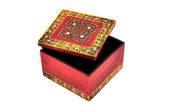 Colorful wooden casket Royalty Free Stock Photo
