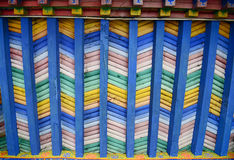 Colorful wooden ceiling Stock Images