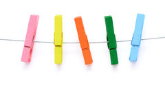 Colorful wooden clothespin Royalty Free Stock Photos
