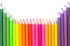 Colorful wooden crayon Stock Photography