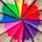 Colorful wooden crayon Royalty Free Stock Photos