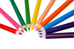 Colorful wooden crayons. Stock Image