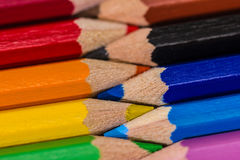 Colorful wooden crayons, pencils Royalty Free Stock Image