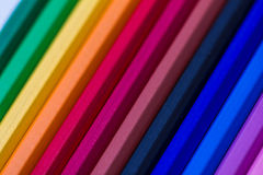 Colorful wooden crayons, pencils Stock Photography