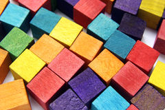 Colorful wooden cubes Royalty Free Stock Image