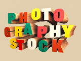 Colorful wooden 3D Text Stock Photo