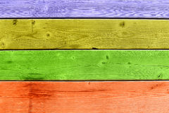 Colorful wooden deck Stock Photography
