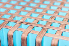 Colorful wooden decorative interior finish Royalty Free Stock Photography