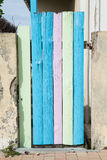Colorful wooden door Royalty Free Stock Photos