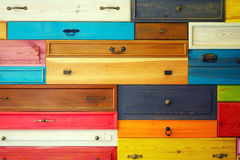 Colorful Wooden Drawer Stock Image