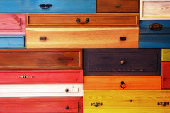 Colorful Wooden Drawer Royalty Free Stock Photography