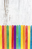 Colorful wooden fence Stock Photos