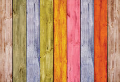 Colorful wooden fence Stock Photography