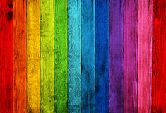 Colorful wooden fence Stock Image