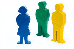 Colorful wooden figures Stock Photo