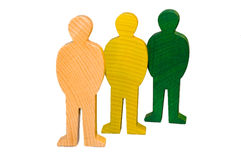 Colorful wooden figures Stock Photography
