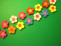Colorful wooden flowers Royalty Free Stock Images