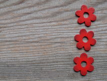 Wooden flowers Stock Photography