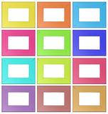 Colorful wooden frames Stock Image
