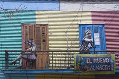 Colorful wooden house Caminito Barrio La Boca Buenos Aires Argentina Latin America South America nice Royalty Free Stock Photos
