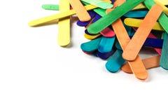 Colorful wooden ice cream stick Stock Photo