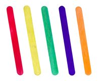 Free Colorful Wooden Ice-cream Sticks Isolated On White Background Stock Images - 107184794