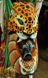 Colorful wooden indigenous mask Royalty Free Stock Photos