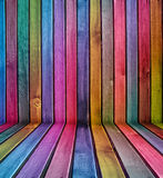 Colorful wooden interior Stock Image