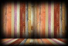 Colorful wooden interior room backdrop Royalty Free Stock Photography