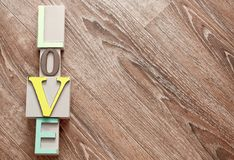 Colorful wooden letters love Royalty Free Stock Image