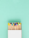 Colorful wooden matches Royalty Free Stock Photography