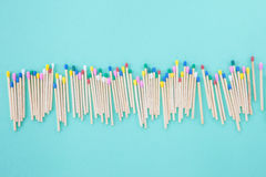 Colorful wooden matches Royalty Free Stock Photo