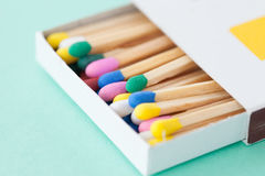 Colorful wooden matches Stock Photography
