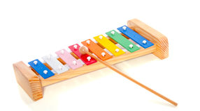 Colorful wooden metal xylophone Royalty Free Stock Photography