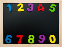 Colorful wooden numbers Royalty Free Stock Images