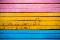 Colorful wooden panel / wall Stock Photos