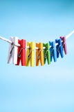 Colorful wooden pegs  Series 2 Royalty Free Stock Photo